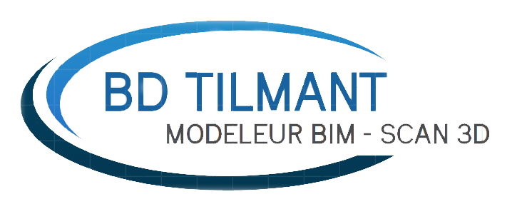 Logo BD Tilmant - Modeleur BIM - Scan 3D - Architecture - Topographie - Visualisation 3D